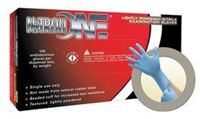 Picture of MCR-NO-123 - Microflex® Large Blue Nitron One® 5.5 mil Nitrile Lightly Powdered Disposable Gloves (100 Gloves Per Box)