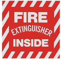 "Picture of BL116 - Self-Adhesive Vinyl ""Fire Extinguisher Inside"" Signs"