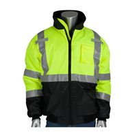 Picture of 333-1740 -  PIP®  Green ANSI Type R Class 3 Value Black Bottom Bomber Jacket
