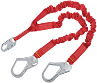 Picture of 1340161 - Stretch 100% Tie-Off Shock Absorbing Lanyard, 6 ft, steel rebar hooks
